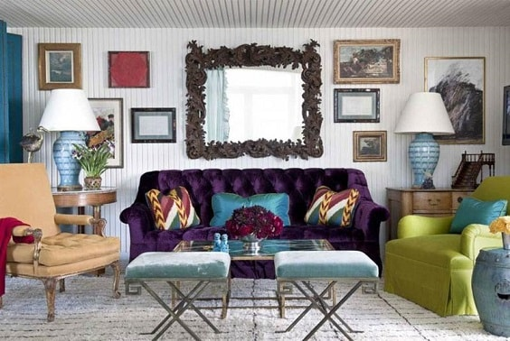 eclectic living room 31-min