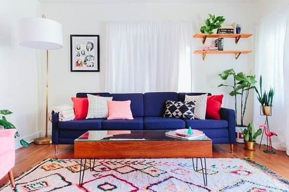 eclectic living room 5-min