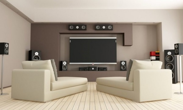 living room theater feature