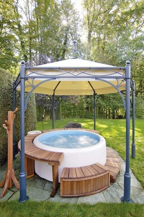 Hot Tub Backyard Ideas 10