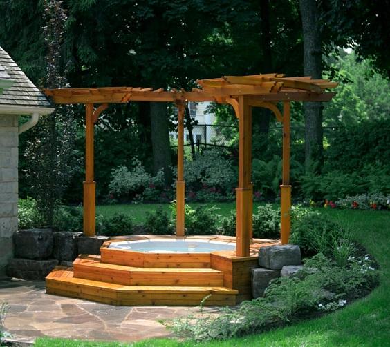 Hot Tub Backyard Ideas 7