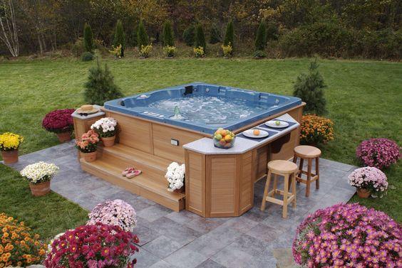 Hot Tub Backyard Ideas 8