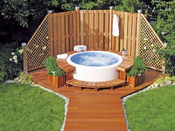 Hot Tub Backyard Ideas 9