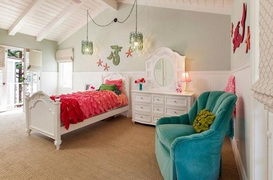 Mermaid Bedroom Ideas for Girls 5-min
