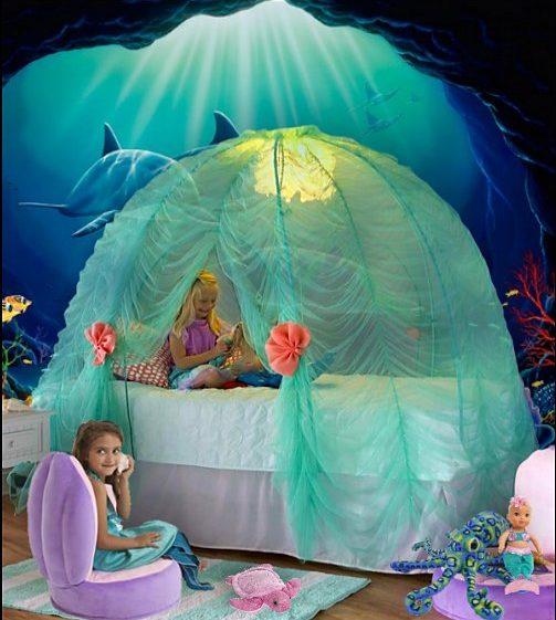 Mermaid Bedroom Ideas for Girls 6-min