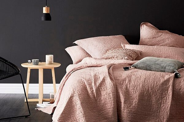 Rose Gold Bedroom feature (1)