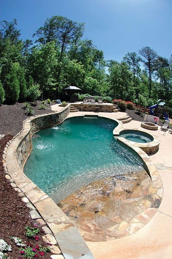 beach entry pool ideas 1