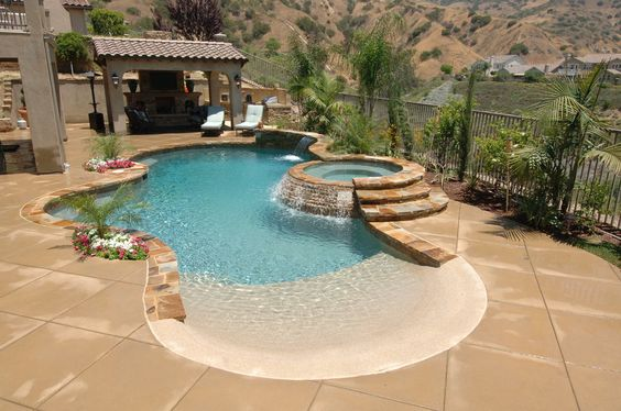 beach entry pool ideas 11