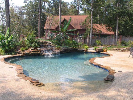 beach entry pool ideas 13