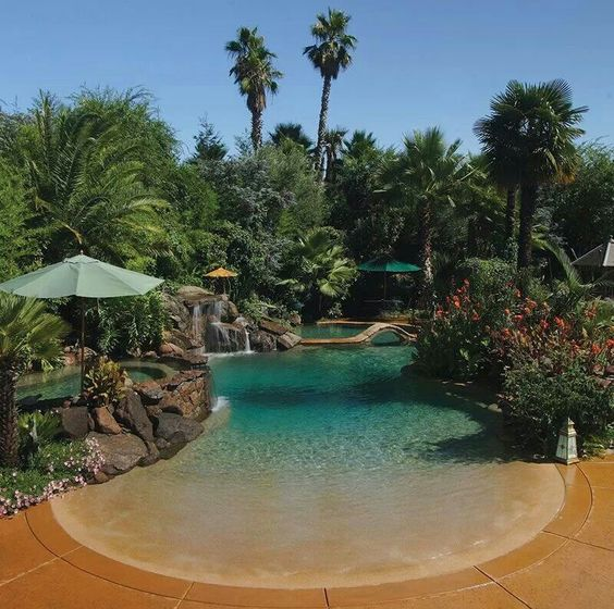 beach entry pool ideas 14