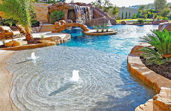 beach entry pool ideas 15