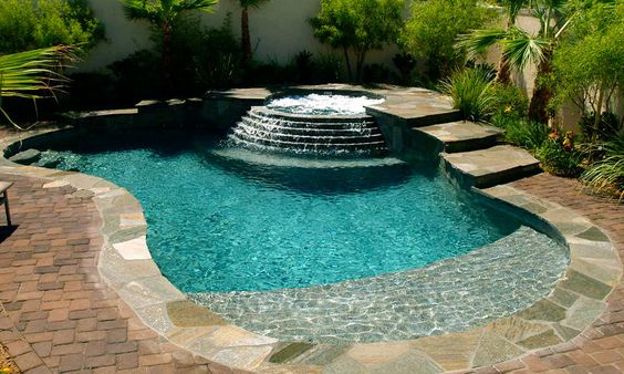 beach entry pool ideas 16