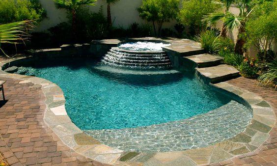 beach entry pool ideas 16