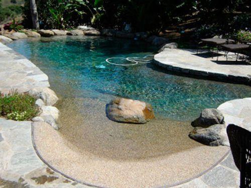 beach entry pool ideas 17