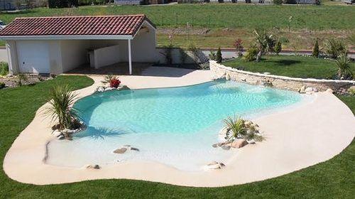 beach entry pool ideas 18