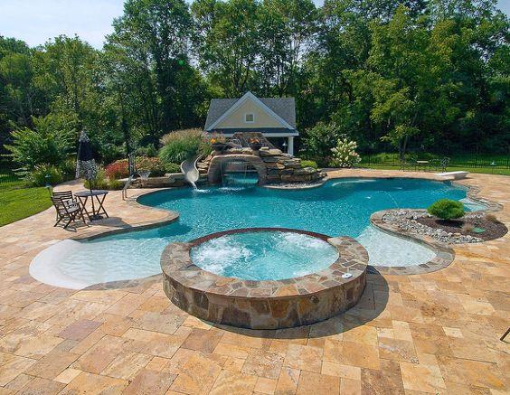 beach entry pool ideas 2