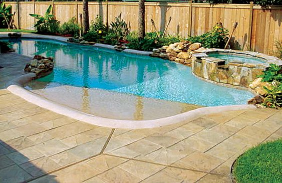 beach entry pool ideas 23