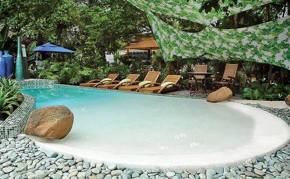beach entry pool ideas 25