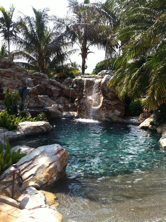 beach entry pool ideas 3