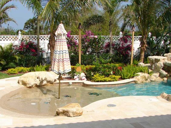 beach entry pool ideas 5