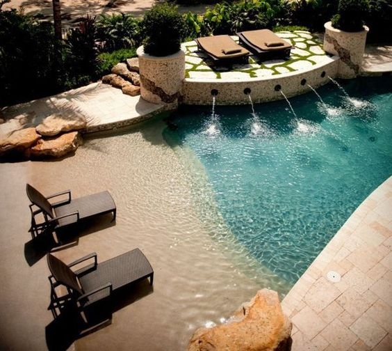 beach entry pool ideas 6
