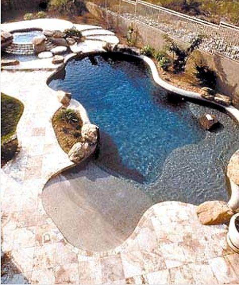beach entry pool ideas 7