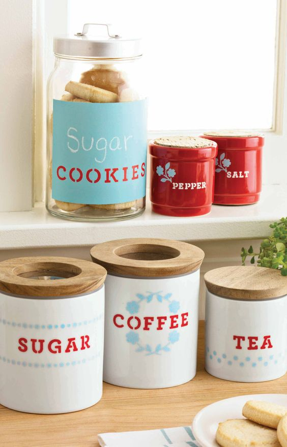 diy kitchen canister 15