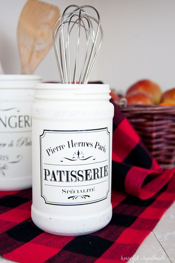 diy kitchen canister 7