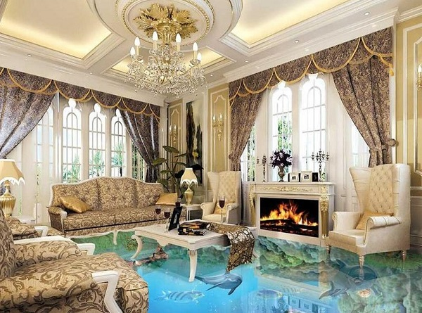 glamor living room feature