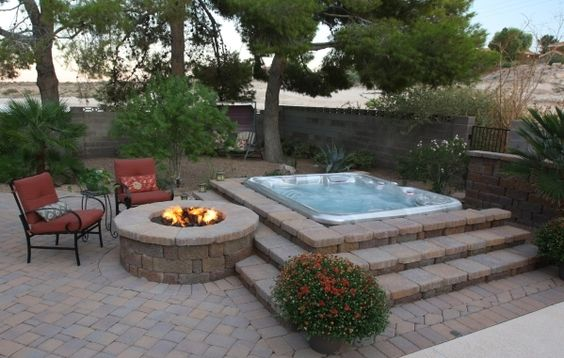 hot tub area ideas 1