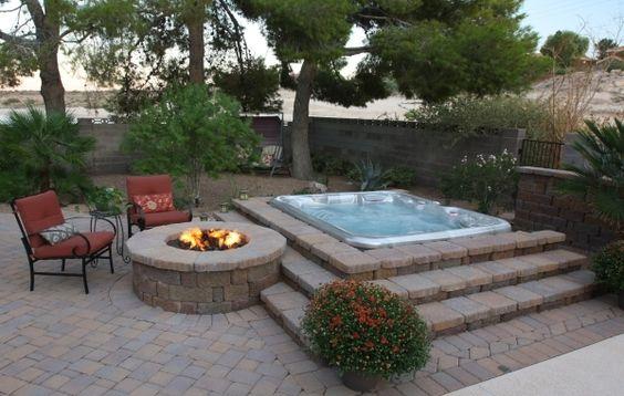 hot tub area ideas 1