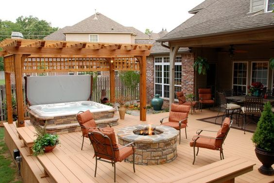 hot tub area ideas 10