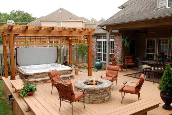 hot tub area ideas 10