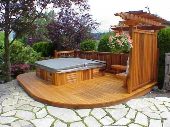 hot tub area ideas 11