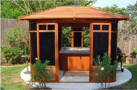 hot tub area ideas 13