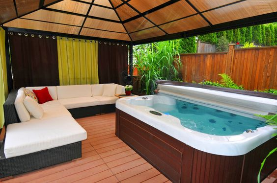 hot tub area ideas 15