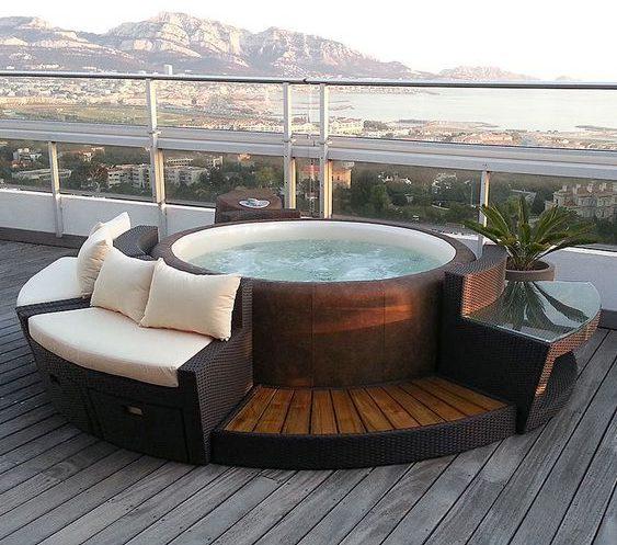 hot tub area ideas 16