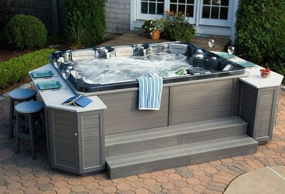 hot tub area ideas 17