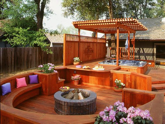 hot tub area ideas 2
