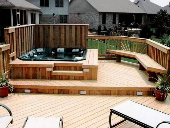 hot tub area ideas 20