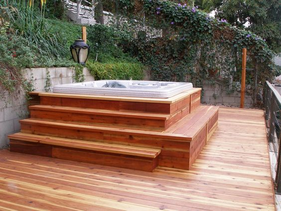 hot tub area ideas 22