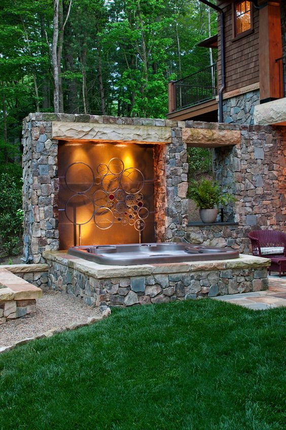 hot tub area ideas 23