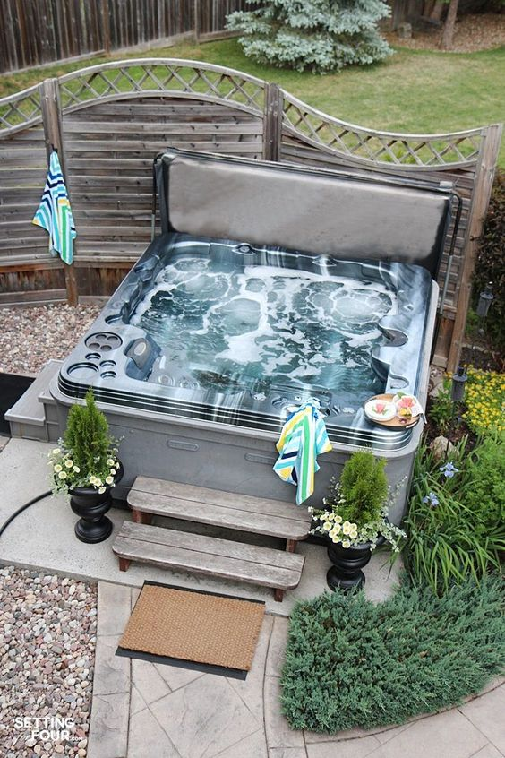 hot tub area ideas 24
