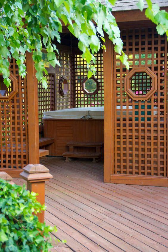 hot tub area ideas 25