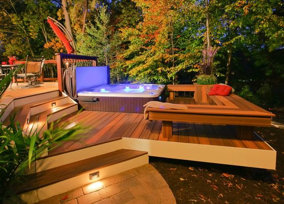 hot tub area ideas 4