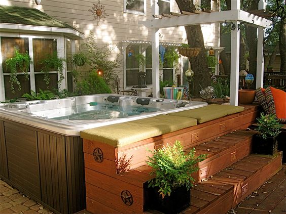 hot tub area ideas 5