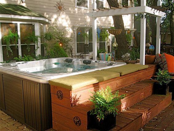 hot tub area ideas 5