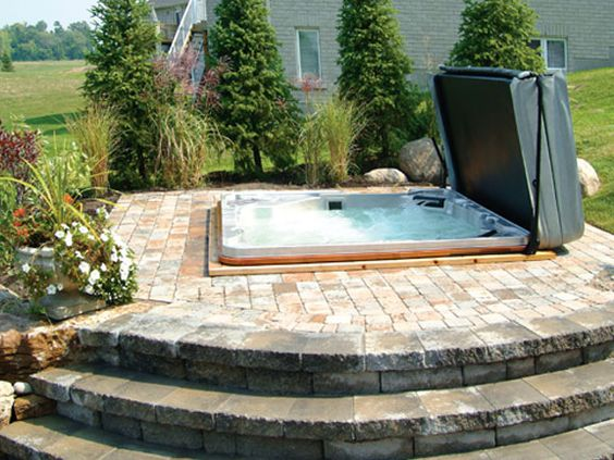 hot tub area ideas 7