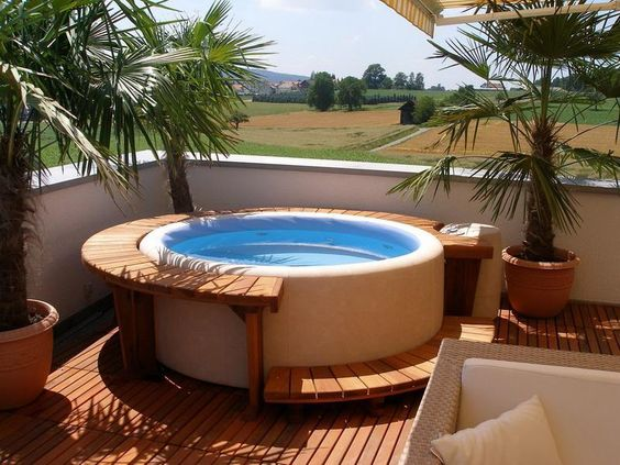hot tub area ideas 8