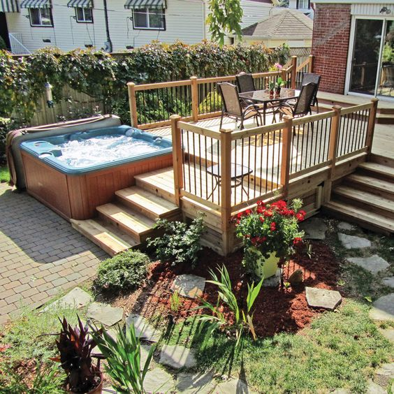 hot tub area ideas 9
